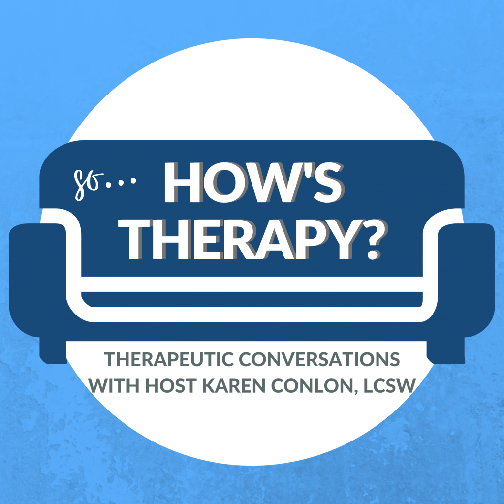 So, How's Therapy Podcast Logo