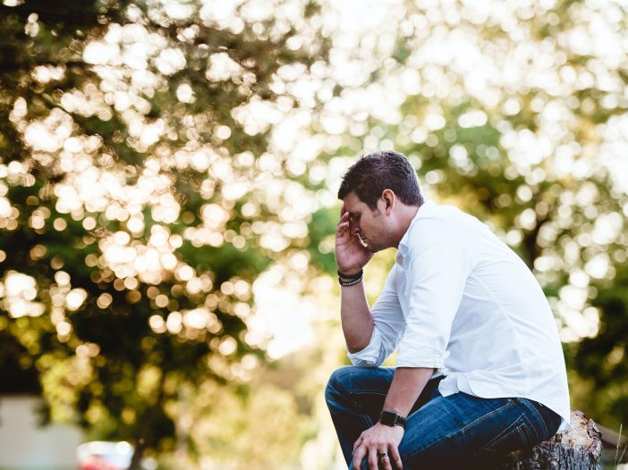 man experiencing low self-esteem caused by emotional neglect
